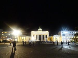 夜のブランデンブルグ門