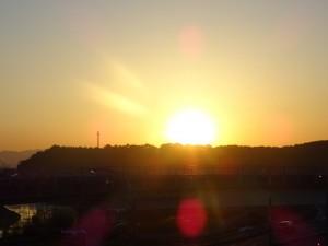 総社市の夕陽