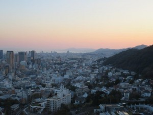 神戸市の夕刻