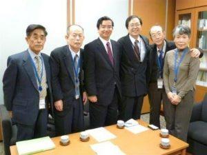 水野夫妻で国会事務所訪問
