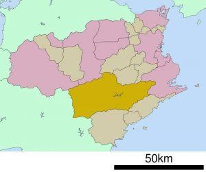海部郡の地図