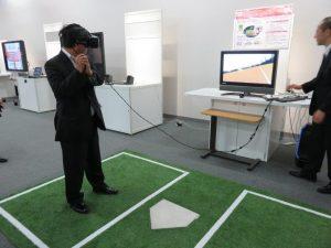 VR体験でスポーツトレーニング