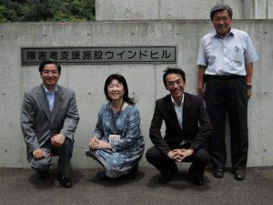 6月訪問時の写真(松原理事長夫妻・おやじリンク金子理事長)