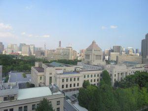 夏の国会議事堂