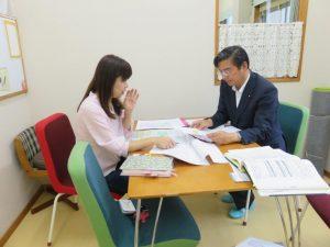 藤田久美教授と家族支援で意見交換